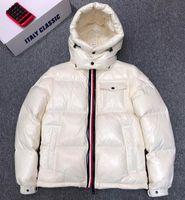 Hommes Nylon Down Down Court Jacket Brillant Laque Riber Sleeve Designer Gentleman enlevé Hover Souffée de poche à glissière