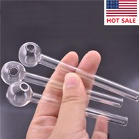 Factory 10cm Glass Oil Burner Pipe cheapest Mini Thick Pyrex Smoking Pipes Clear Test Straw Tube Burners For smoking Accessories
