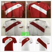 2021 2022 Peru Futbol Formaları Guerrero Farfan Cueva Lapadula Lores Özel Perú Camisetas De Fútbol Ev Beyaz Uzaktan Kırmızı Futbol Gömlek