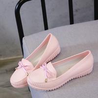 Bayan yağmur ayakkabı casual kadın için su geçirmez ayakkabı kayma 2019 ilkbahar sonbahar kadın yağmur ayakkabı kadınlar düz su geçirmez loafer'lar o2vk #