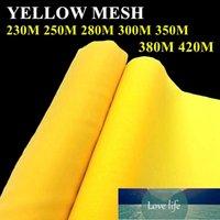 الشاشة الحريرية الأصفر طباعة شبكة 230 متر / 250 متر / 280 متر / 300 متر / 350 متر / 380 متر / 420M البوليستر دائم 120 سنتيمتر عرض شاشة الطباعة شبكة النسيج سعر المصنع خبير جودة التصميم