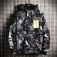 Giacca da moto all'aperto Uomini inverno softshell hip hop camo giacca uomo streetwear impermeabile jaqueta masculina soprabito