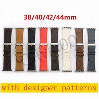Новый дизайн кожаный ремешок для Apple Watch Band Series 6 5 4 3 2 40 мм 44 мм 38 мм 42 мм браслет для пояса IWATCH O07