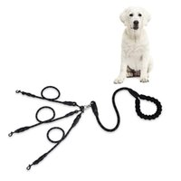 Dog Collars & Leashes 2 3 4 5 Dogs Leash Coupler Double Reflective Twin Lead Walking Adjustable Splitter Trainer With Two Padded Han