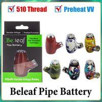 100% autêntico tubos de bateria de tubos de belo 6 cores design de madeira Vape Pen Cigarro 510 Tópico 900mAh Recarregável Pré-aqueça Tensão variável