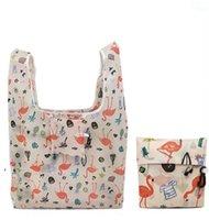 Складные сумки для покупок Дружеские хранения сумочка Организатор Красивый многоразовый фрукты овощной сумка большой емкости Полиэстер портативный OWE8785
