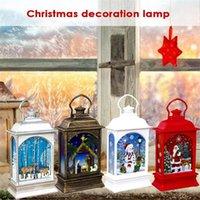 Party Decoration Christmas Vintage Elk LED Light Snowman Table Lamp Tree Pendant Hanging Lantern Home Decor Supplies