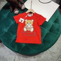 2021SS Designer Vestiti per bambini T Shirt da bambino Designer Abbigliamento Combinato Cotton Mos Abiti T-Shirt T-Shirt T-shirt Red 100-150