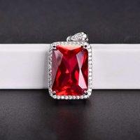 HBP мода роскошный новый хип-хоп стиль квадратный сеть красный кулон ожерелье