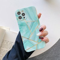 Fashion Luxury Splice Marble Glitter Phone Case For iPhone 12 Mini 11 Pro XS Max XR 7 8 Plus SE TPU Shockproof Back Cover