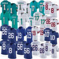 Hombres Mujeres Juventud Fútbol 1 Tua Tajovailoaa 17 Jaylen Waddle 26 Saquon Barkley 8 Daniel Jones 19 Kenny Golladay 10 Eli Manning Jerseys
