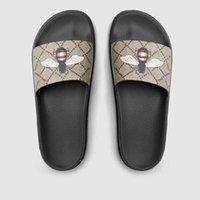 2021 Été des pantoufles de haute qualité Sandales Diapositives Chaussures de sport avec boîte Huaraches Flip FLOPS Large Mocassins plats Scuffs Taille 36-45 #GBH