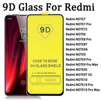9D Full Cover Tempered Glass Screen Protector For RED MI Redmi NOTE 7 7S 8 8T 9 9A MAX 9S 9T NOTE10 10 PRO