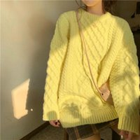 Women's Sweaters Autumn Knitted Sweater Long Sleeve Top Women Winter Pullovers Solid Color O Neck Clothes For Ladies 2021 Y106
