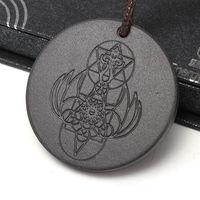 Новые скалярные энергетические ожерелье круглые подвески для мужчин Женщина турмалиновые вулканические украшения