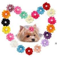 꽃 개 머리 활 긴 머리 애완 동물 개 활 고무 밴드 고양이 강아지 머리 클립 애완 동물 정리 활 개 액세서리 hwe9290