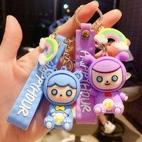 Keyring Keychain Cartoon cute girl heart doll key chain car pendant ring small gift