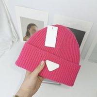 Многоцветные трикотажные кепки для мужчин Женщины осень зима теплые толстые шерсти дизайнеры письма холодная шляпа пара мода уличные шляпы