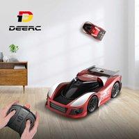 Deerc 1:10 mini brinquedos de carro para crianças parede escalada troca automóvel multi-canais 360 stunt controle remoto drift brinquedo para crianças q0726