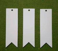 DHL300PCS Marcador Sublimação DIY Branco Em Branco Bookmarks de Metal Cartões de Mensagem Notas Do Livro Paper Holder para Livros School Office Material