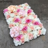 Couronnes de fleurs décoratives Wshyufei 40x60cm Silk Rose Flower Wall De mariage Décoration de la décoration de toile de fond artificiel décor romantique