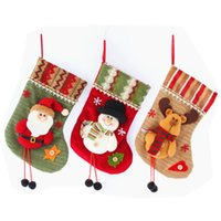 Christmas Decorations Old Man Socks Tree Decoration Pendant Candy Gift Bag Supplies