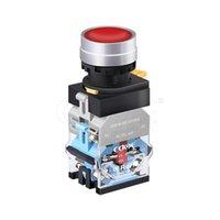 Contrôle de la maison intelligente imperméable IP65 LA38-11 380 Tension LED lumières Réinitialisation Verrouillage Normal Open 1NC Bouton Push Switch 22mm