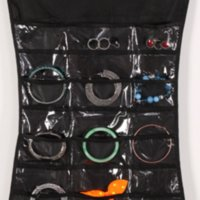 30 Pocket 24 Hanging Loop Loop Bag Borsa Gioielli Holder Collana Bracciale Earring Anello Anello Organizzatore Borsa per gioielli 83 * 45CM1 RRD7471