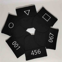 10PCS  DROP SHIPPING Squid game embroidery knitted beanie hat hip hop Ski winter warm slouchy cuffed skull caps unisex black color beanies TikTok trendy G01YRSV