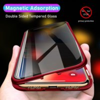 Anti Privacy Protector Magnetic Adsorption Cases for iPhone 13 12 Mini 11 Pro XS Max XR 7 8 Plus SE Double Sides Glass Cover