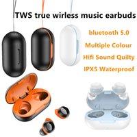 TWS 22 Smart cat Ear Wireless Headphone Bluetooth 5.0 Binaural sports waterproof Nosie Reducton Earbuds HIFI Music Headset With Charging Box For Smartphone