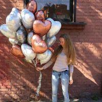 Decoration 10pcs 18inch Chrome Metallic Heart Star Party Round Helium Foil Balloons Baby 1st Birthday Supplies J10U