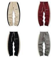 Sonbahar Erkek Moda Pantolon Tanrı Korkusu Yan Şerit Artı Polar Temel Mektup Baskı Yüksek Sokak Pantolon Erkekler Ve Kadınlar Casual Gevşek Kış Sis Sweatpants