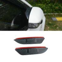 For Volkswagen Sagitar Jetta 2006-2021 Car Stickers Side Rearview Mirror Rain Eyebrow Visor ABS Carbon Fiber SunShade Guard Accessories