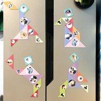 Fridge Magnets 7pcs Po Customized Refrigerator Magnetic Sticker Decoration Tangram Developmental Toys Mangets Wedding Birthday Gifts