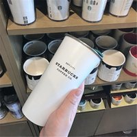 2020 Starbucks Vacuum Isolato Travel Coffee Tap Tazza da caffè in acciaio inox Tumbler Sweat Thermos Free Black Black Bottle Free Ship 13 S2