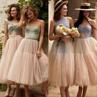 신부 들러리 드레스 2021 mismacth 아랍어 한 어깨 섹시한 얇은 얇은 명주 그물과 새틴 주니어 하녀 명예 드레스 웨딩 파티 드레스