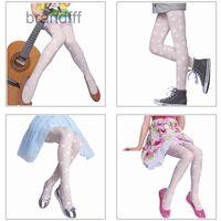 Tights girs white socks fashion jacquard stockings pantyhose 3-dimensional flower bottoming pairs two size