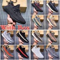 Con caja Kanye Clay v2 West estática 3M Zapatillas de correr reflectantes Beluga 2.0 Ceniz Ash Pearl Negro Rojo Carbono Zyon Zebra Sand Taupe Mens Sneakers EE. UU. GX88 HKYS