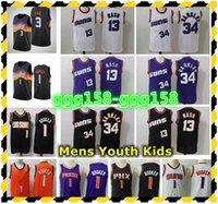 2021 Herren Jugend Kinder Chris 3 Paul Devin 1 Bucher Swingman Jersey Nähed 13 Steve Nash 34 Charles Barkley Retro Klassische Basketballtrikots