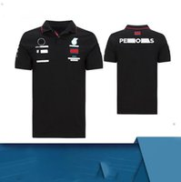 Venta caliente F1 Racing Camiseta de solapa de manga corta Se puede personalizar Motocicleta Traje de carreras Polo Poliéster de manga corta de polo Seco al aire libre SP