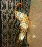 New Peacock Stehleuchten E27 E12 Lampenbasis-Kristall- und Hardware-Skulptur Stehleuchten für Foyer-Verkauf GY-003
