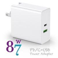 87W PD зарядные устройства для 15-дюймового MacBook Pro Mini iPhone 11 XR XS MAX USB TypeC-ноутбук зарядное устройство адаптер питания быстрая зарядка