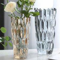 Vazolar Köpük Rhinestone Cam Vazo Artı Çiçek Düzenlemesi Ev Dekorasyon Süsler Için Oturma Odası Ekran El Sanatları Düğün Dekor