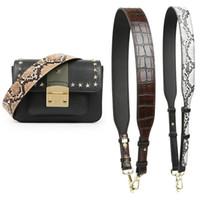 Accesorios de correa de bolsas de nigedu para bolsas Patrón de cocodrilo Cinturón Correa de hombro Famosa Marca Mujer Correas Serpiente 210306