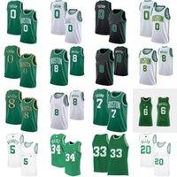 보스턴셀틱스Kemba 8 Walker Jerseys Jayson 0 Tatum Larry Rondo Kevin 5 Garnett 34 Pierce 20 Allen Basketball Jersey