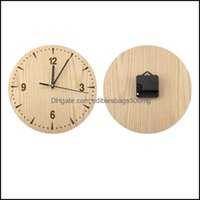 Clocks Décor Home & Gardenplastic Vintage Round Wood Table Desk Analog Clock For Living Room Bedroom Office Wall Watch Drop Delivery 2021 Xs