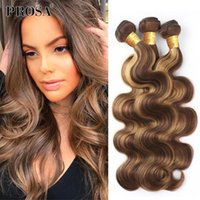 Human Hair Bulks Highlight Bundle Body Wave 30 Inch Bundles Weave Brazilian Ombre Brown 3 Extensions Products With