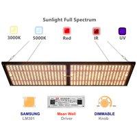 240W Samsung LM301B Quantum LED Grow Light Full Spectrum QB288 Growing Lamp for Indoor Plants with 3000K 5000K 660nm UV IR