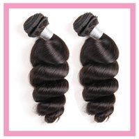 Peruvian Loose Wave 2 Bundles 100% Human Hair Extensions Double Wefts Natural Color 95-100g piece